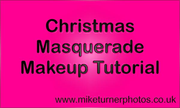 christmas masquerade makeup tutorial