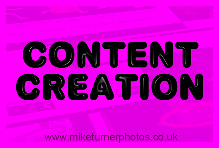 Mike Turner Photography: content creation