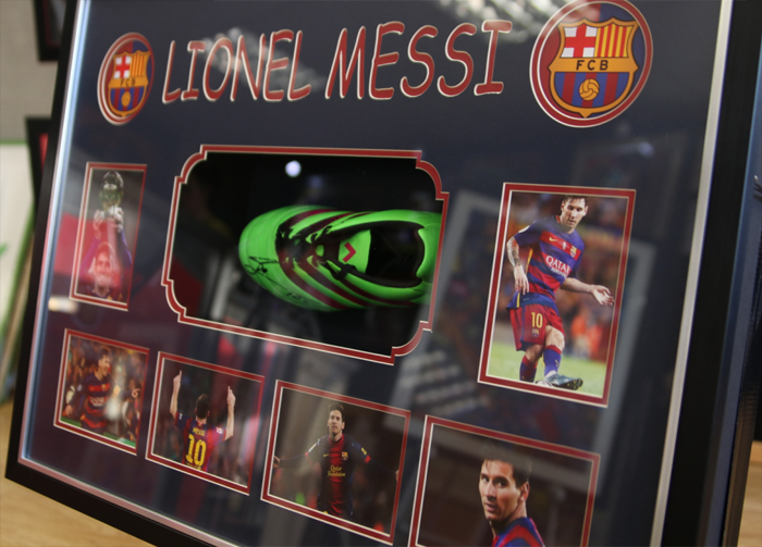 Messi light up box signed boot