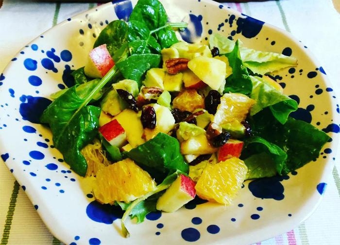 Mike Turner Photos: Spinach and Fruit Salad with nuts